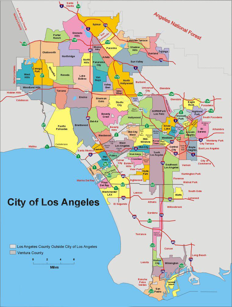 los angeles térkép Los Angeles, Hollywood, Beverly Hills, Santa Monica, Malibu  los angeles térkép