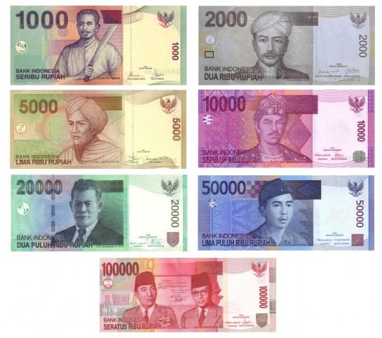 Indonéz rúpia (IDR) papírpénzek