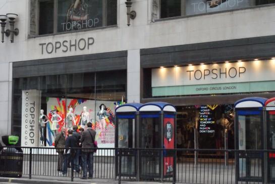 London Topshop ruházati áruház
