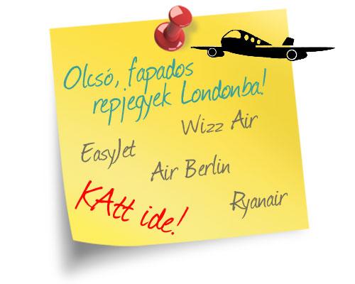 Olcsó fapados repülőjegyek Londonba - easyJet, Wizz Air, Ryanair