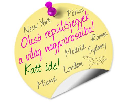 Olcsó repülőjegyek New York, Miami, London, Párizs, Madrid