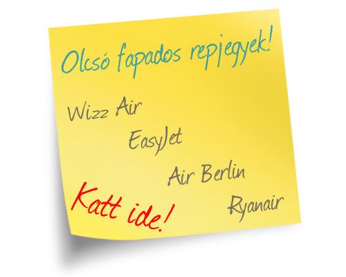 Olcsó fapados repülőjegyek - easyJet, Wizz Air, Ryanair, Air Berlin