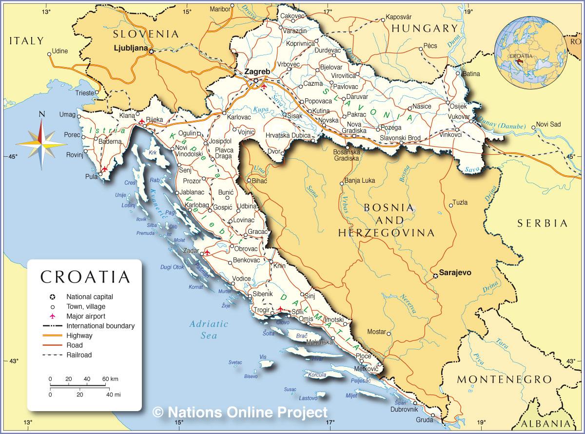 magyarország horvátország térkép Horvátország, Krk, Rab, Térkép, Időjárás, Horvátországi  magyarország horvátország térkép