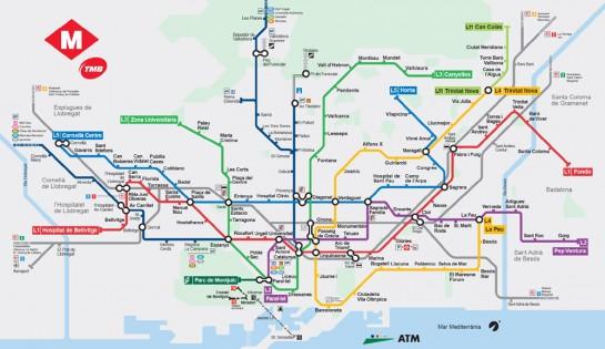 Barcelona metró térkép
