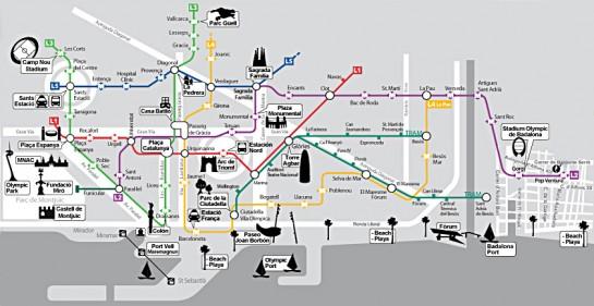 Barcelona térkép - Barcelona map