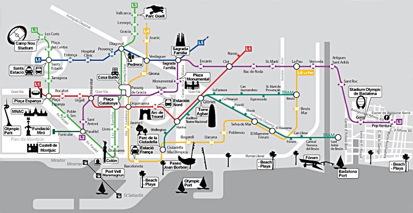 barcelona térkép Barcelona Card, Spanyolország, FC Barcelona, Barcelona repülőjegy  barcelona térkép