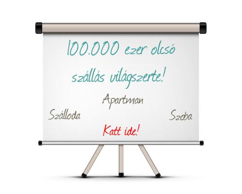 100.000 olcsó szállás világszerte - Szálloda, Szoba, Apartman
