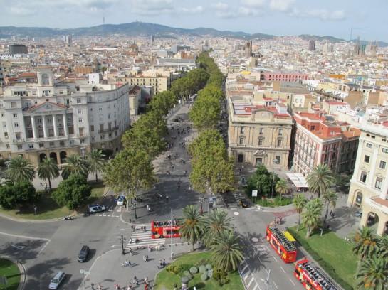 Barcelona, La Rambla sétálóutca