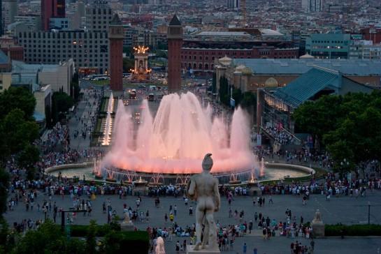 Barcelona Mágikus Szökőkút