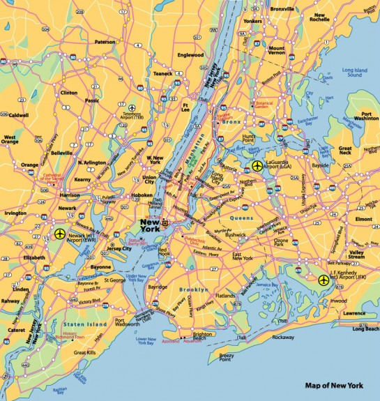 New York City térkép - New York City map