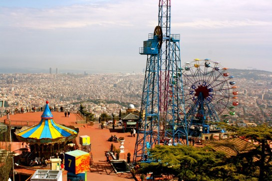 Barcelona Tibidabo Vidámpark