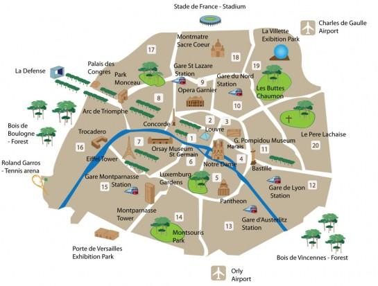 Párizs térkép - Paris Map